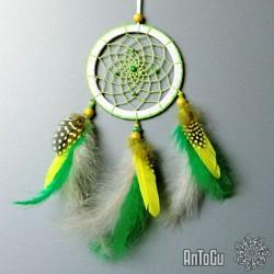 Lapač snů- malý- zeleno-žlutý