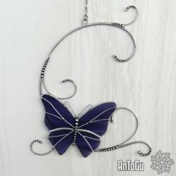 Motýlek s ornamenty - fialový
