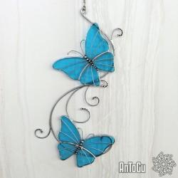 Motýlci s ornamenty - modrý