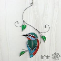 Ledňáček s ornamenty