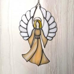 Anděl strážný - vitráž