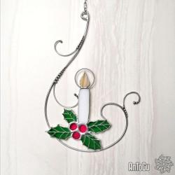 Vánoční svíce - vitráž