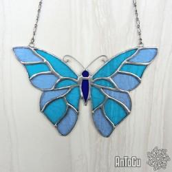 Vitráž- motýl - zakázková výroba